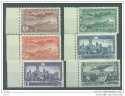 ES614-L2756TTOA..Spain Espagne CONGRESO UNION POSTAL PANAMERICANA 1931 (Ed 614/9**)sin Charnela MAGNIFICA BORDE DE HOJA - Transporte