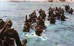 DEBARQUEMENT EN NORMANDIE DES TROUPES DEBARQUENT SUR LA COTE NORMANDE  REPRODUCTION - War 1939-45