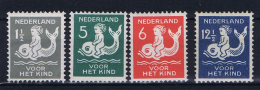 Netherlands, 1929, NVPH 225-228  MNH/**, - Period 1891-1948 (Wilhelmina)