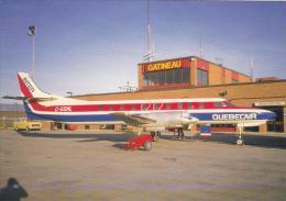 Inter Quebecair Swearingen Metro Aircraft At Gatineau Airport Postcard (A24144) - Aerodromes