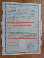 *REGNO D'ITALIA PRESTITO REDIMIBILE 5% - VILLABARTOLOMEA VERONA 1939 - - Documenti Storici