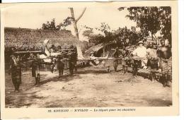 CPA CONGO KOUILOU N'FILOU Le Départ Pour Les Chantiers - French Congo - Other