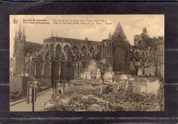 """39257    Belgio,   Ruine  De  Louvain -  Vue  De  La  Rue  De  Diest Vers  L""""Eglise  Saint-Pierre,  NV - Leuven"""