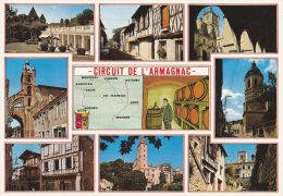 Cp , 32 , CIRCUIT DE L'ARMAGNAC , En Parcourant Le Gers , Multi-Vues - Non Classés