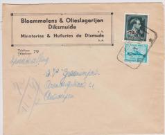 Brief - EXPRES - Lettre - Diksmuide 724T + 725  DIXMUIDE 10-1- 1947 Telegraafstempel - 1946 -10%