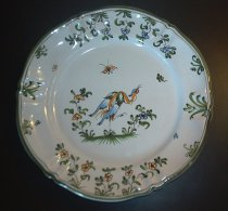 Moustiers - Assiette Oiseau  - Bord Met Vogel - Plate With Bird - AS 2140 - Moustiers (FRA)