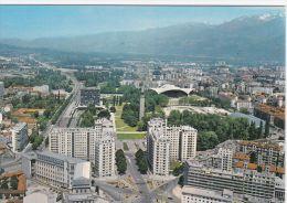 Cp , 38 , GRENOBLE , Parc Paul Mistral , Blvd Jean Pain Et La Chaîne De Belledonne - Grenoble