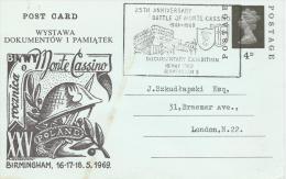 25th. ANNIVERSARY OF BATTLE AT MONTE  CASSINO .EXHIBITION IN BIRMINGHAM - 1939-44: 2de Wereldoorlog