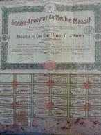 S A DU MEUBLE MASSIF OBLIG 6% N° 7000 SIEGE PARIS NOTAIRE LIMOGES 1919 - Industrie