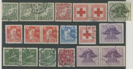 SWEDEN 1944 - 1945 VARIOUS USED STAMPS - Usati