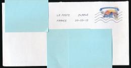 """Rare, Enveloppe, Courrier Français Avec Timbre Russie (2000) """"Kremlin"""", Oblitération France, Poste 27984A (30-03-13) - 1992-.... Fédération"""