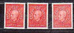 NORWAY-1947-Sc#  291 X 3  - MINT NH VF - SALE $ 1.25 - Norvegia