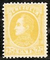 VENEZUELA 1880 - Yvert #26 - MLH * - Venezuela