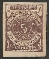 USA 1861/62 (Estados Confederados - New Orleans) - Yvert #3 - Mint No Gum (*) - 1861-65 Etats Confédérés