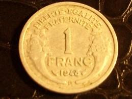 1 Franc Type Morlon Aluminium 1948 B - France