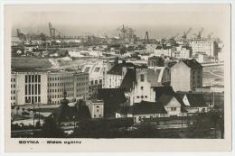 GDYNIA Widok Ogoíny Panorama With TRAIN STATION  Real Photo  C. 1948 - Polen
