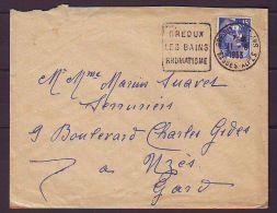 TIMBRE.LETTRE.FRANCE.DAGUIN.....GROUX LES BAINS.UZES.GARD.BASSES ALPES.04 - Marcophilie (Lettres)