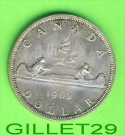 COINS, MONNAIES, CANADA - ONE DOLLAR 1963, F-12 -ELIZABETH II DEI GRATIA REGINA - - Canada