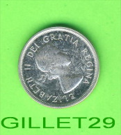 COINS, CANADA - 25 CENTS 1964 - ELIZABETH II DEI GRATIA REGINA - - Canada