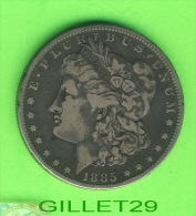 COINS, U.S.A. - ONE DOLLAR 1885 ( O ) - UNITED STATES OF AMERICA - E. PLURIBUS UNUM - LIBERTY - - Non Classés
