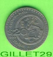 COINS, MEXICO -  20 PESOS, 1984 - CULTURA MAYA - ESTADOS UNIDOS MEXICANOS - - Mexique