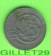 COINS, MEXICO -  20 PESOS, 1981 - CULTURA MAYA - ESTADOS UNIDOS MEXICANOS - - Mexique