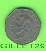 COINS, MEXICO -  10, DIEZ  PESOS, 1981  - ESTADOS UNIDOS MEXICANOS - - Mexique