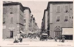 """TOSCANA- LIVORNO """" VIA VITTORIO EMANUELE  """"  BEN CONSERVATA 100% ORIGINALE D´ EPOCA - Livorno"""