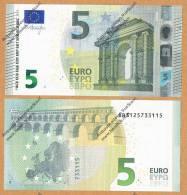 Italia 2013 Nuova Banconota 5 EURO - S002C5 -Emessa 2 Maggio 2013 FDC  Nuova** Integra Mai Circolata - EURO