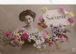 CERCY LA TOUR (58) Carte Fantaisie Souvenir De - France