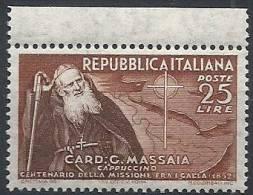 1952 ITALIA MASSAIA MNH ** - RR11550 - 1946-60: Nuovi