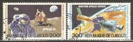 Djibouti 1980 Mi# 276-277 Used - Space Conquests / Apollo - Africa