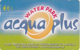 GREECE - Acqua Plus Water Park Magnetic Member Card, Used - Unclassified