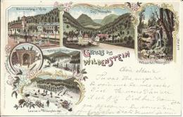 GRUSS AUS WILDENSTEIN, LITHO PRECURSEUR, 1899. SCAN R/V - Thann