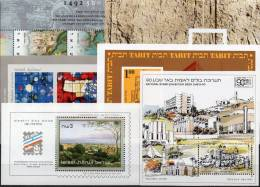 6 Topics Blocs Kunst Kultur Israel Motiv-Blocks ** 116€ Bf History M/s Various Thema Art Bloc Philatelic Sheet Of Asia - Airmail