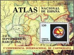 ESPAÑA 1995 - CONFERENCIA INTERNACIONAL DE CARTOGRAFIA - Edifil Nº 3388 - Yvert  Block 65 - 1991-00 Unused Stamps