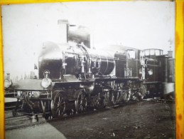 PHOTOGRAPHIE STEREO : LOCOMOTIVE EN GARE DE SAINT-GERMAIN-AU-MONT-D'O R 1904 TRAIN 69 RHONE - Non Classificati