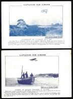 LOT 4 CPA PUBLICITAIRES- FRANCE- AVIATION- PILOTES ET AVIONS 1900-10-  AVEC INFOS- PUB NYRDAHL AU VERSO- 4 SCANS - Airmen, Fliers