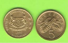 SINGAPUR - SINGAPORE -  5 Cents  KM50 / 99 - Ver Años - Look Years - Singapur
