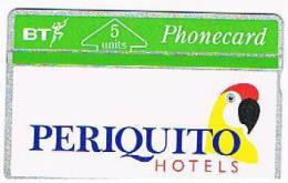 GRAN BRETAGNA (UNITED KINGDOM)   - L&G  BT  - 1992  PERIQUITO HOTELS: PARROT   (TIRAGE 4500) -  MINT - RIF. 6942 - Pappagalli