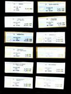24  Vignettes Differentes - 2000 Type «Avions En Papier»