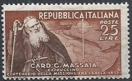 1952 ITALIA MASSAIA MNH ** - RR11585-2 - 1946-60: Nuovi