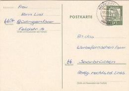BRD P 74 Mit Landpoststempel:  Brebach-Fechingen über Saarbrücken 17.10.1962 - BRD