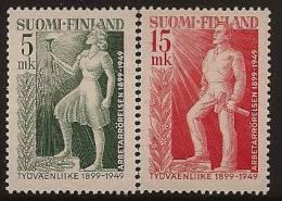 FINLAND 1949 Labour Movement SG 480-1 HM JJ42 - Unused Stamps