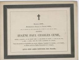 Cenie Eugène Paul Charles Décédé à Batavia 18 Juillet 1845 - Obituary Notices