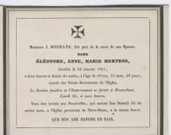 Mertens, Eléonore, épouse Bosmans J., Brasschaet, 22 Janvier 1841 - Obituary Notices