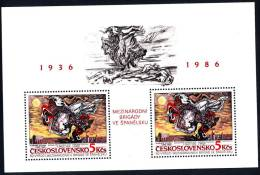 CSSR 1986 Block Mi. 68 Yv. 72 Postfrisch MNH** - Blocchi & Foglietti