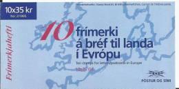 Islande 1995 Carnet C 777 Europa Paix Et Liberté - Markenheftchen