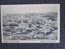 NAZARETH PANORAMIC VIEW BLACK AND WHITE POSTCARD - Palestine