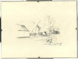 Aalst - Oude Molen - Moorselbaan Aalst - Pentekening - 1988 - Estampes & Gravures